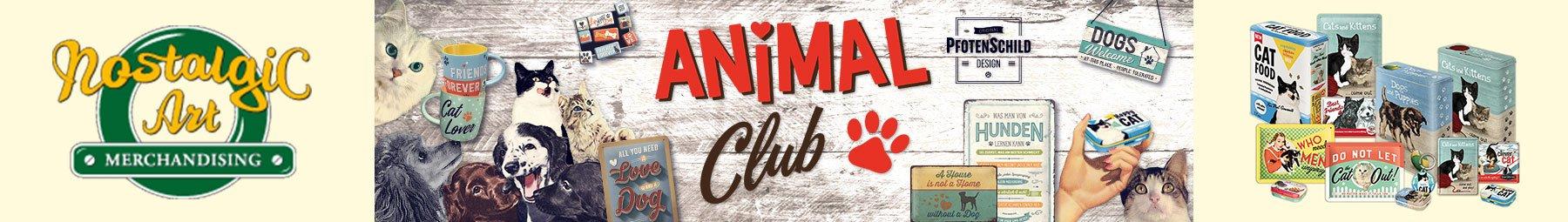 Nostalgic Art Animal Club Retro Artikel für Hunde und Katzen Liebhaber