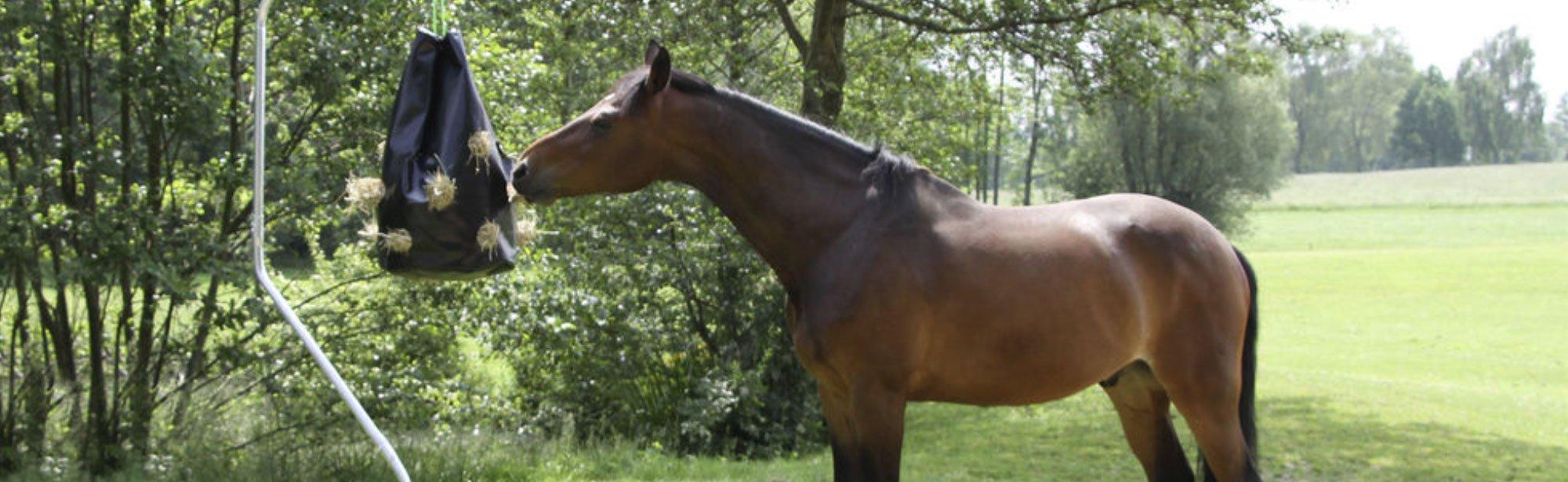 Heunetze für den Pferdestall