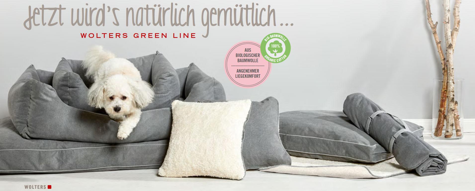 WOLTERS Green Line Hunde-Schlafplätze aus Bio Baumwolle