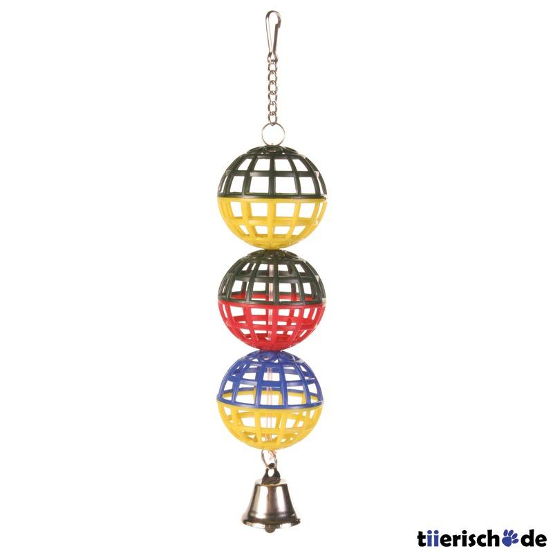 Trixie 3er Gitterball für Vögel mit Kette und Glocke 5251