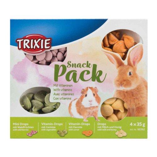TRIXIE 4er Snack Pack für Kleintiere 60362