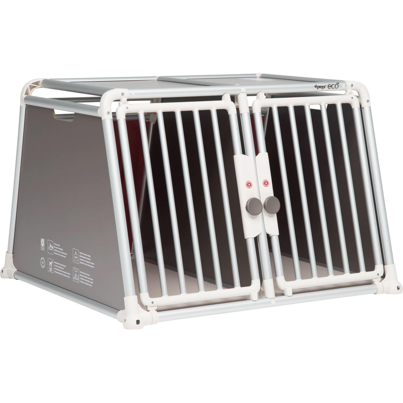 4pets Alu Autobox für 2 Hunde ECO 22