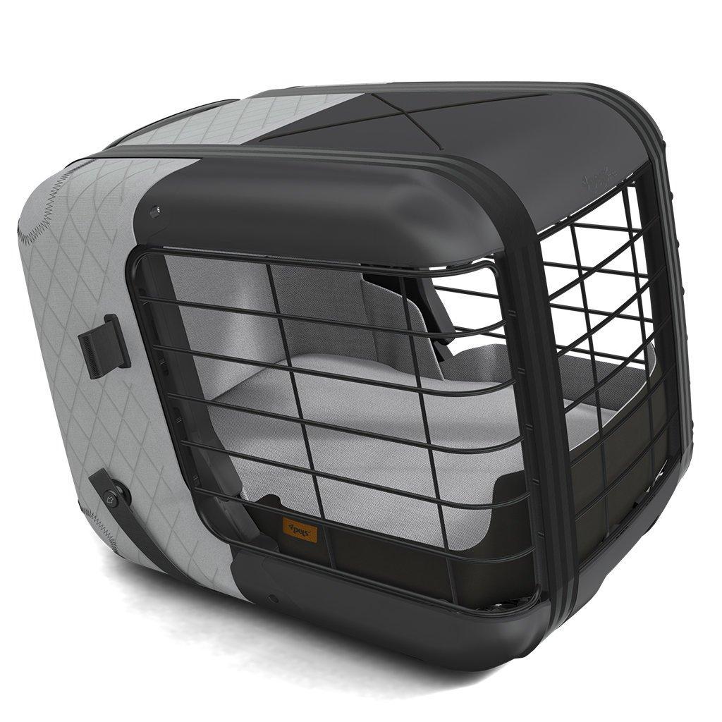 4Pets Dog Caree Hundebox Transportbox für Hunde, Cool Grey - 47,2 x 46,5 x 57cm (B x H x T)