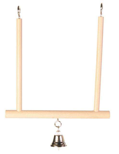 Trixie Trapezschaukel mit Glocke für Sittiche, 12×13 cm