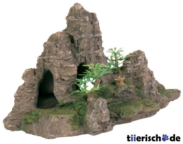 TRIXIE Felsformation mit Höhle und Pflanzen 8853