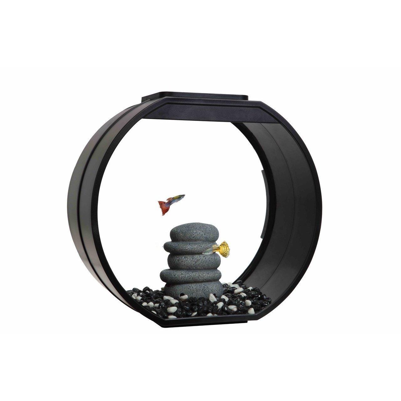 AA Aquarium Deco O Mini Komplettset, 10 l, schwarz, 33,5 x 13,6 x 31 cm