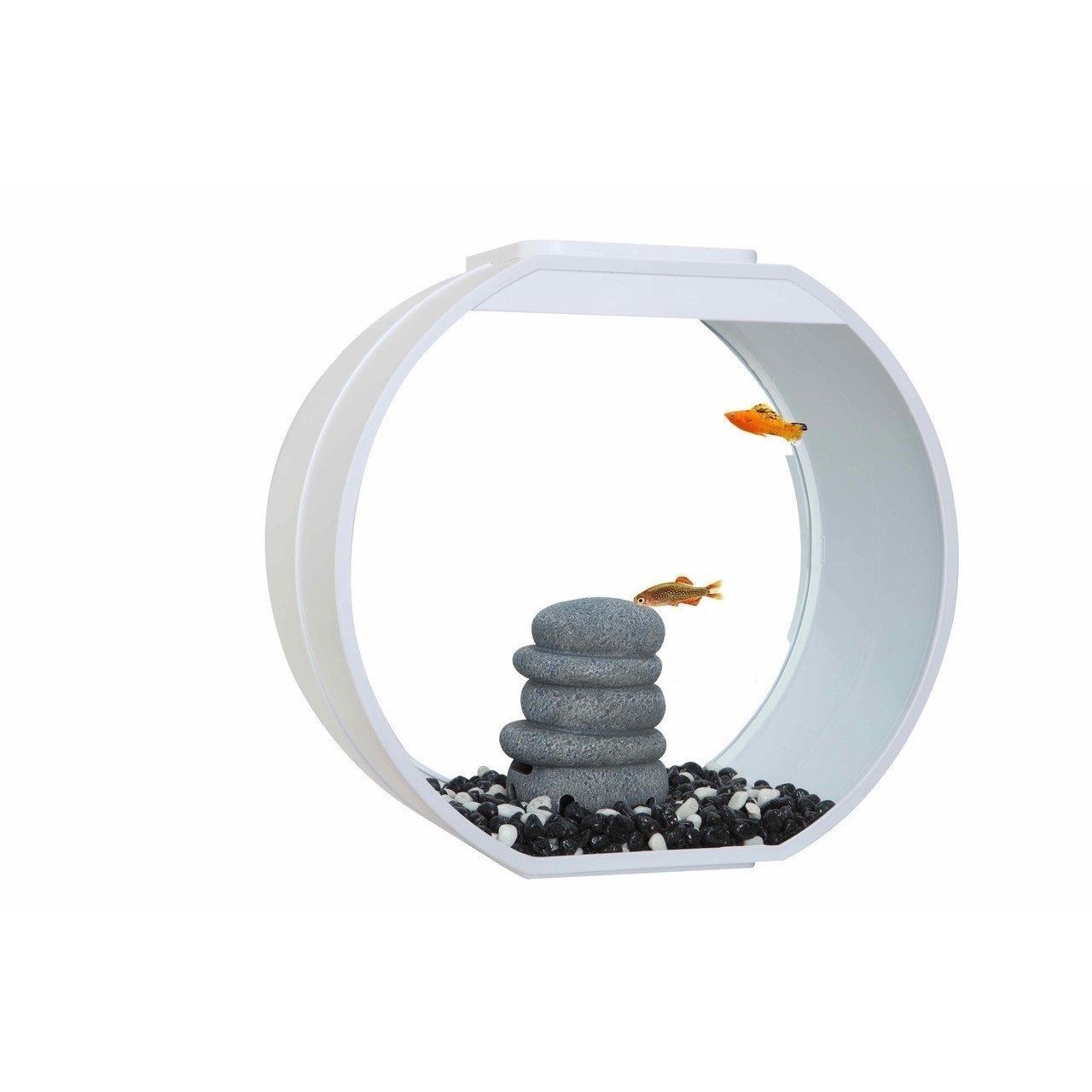 AA Aquarium Deco O Mini Komplettset, 10 l, weiß, 33,5 x 13,6 x 31 cm