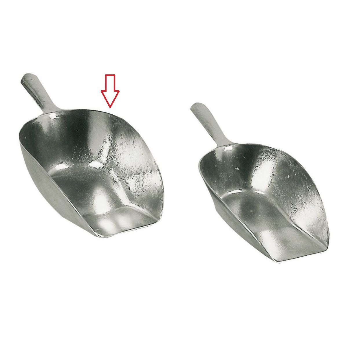 Kerbl Abwiegeschaufel eckig, aus Aluminium, Bild 2