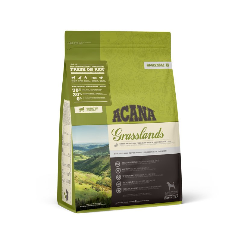 Acana Grasslands Hundefutter getreidefrei, 2 kg