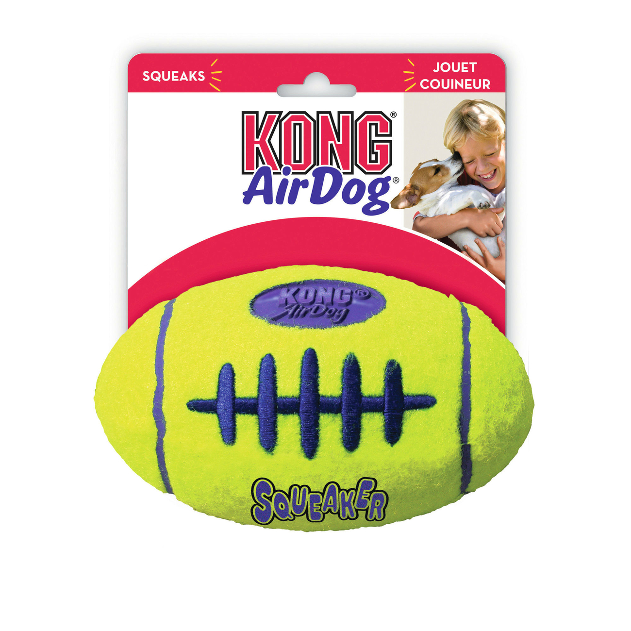 Air KONG Football Hundeball, L: 17 cm