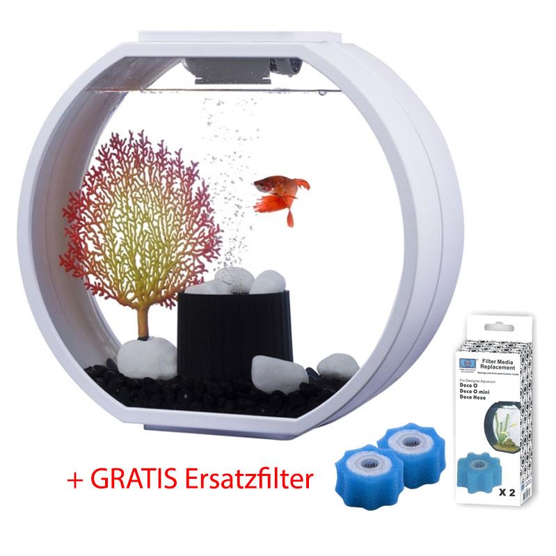 AA Aquarium AKTION: Deco O Mini Komplettset + Ersatzfilter GRATIS