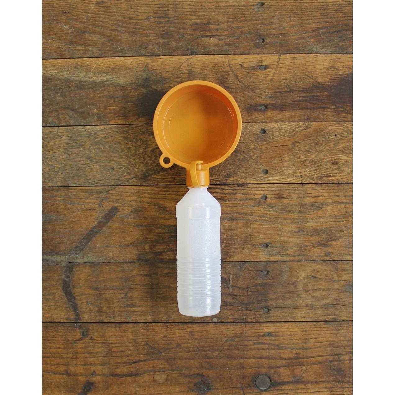 Alcott Trinkflasche mit Napf, orange