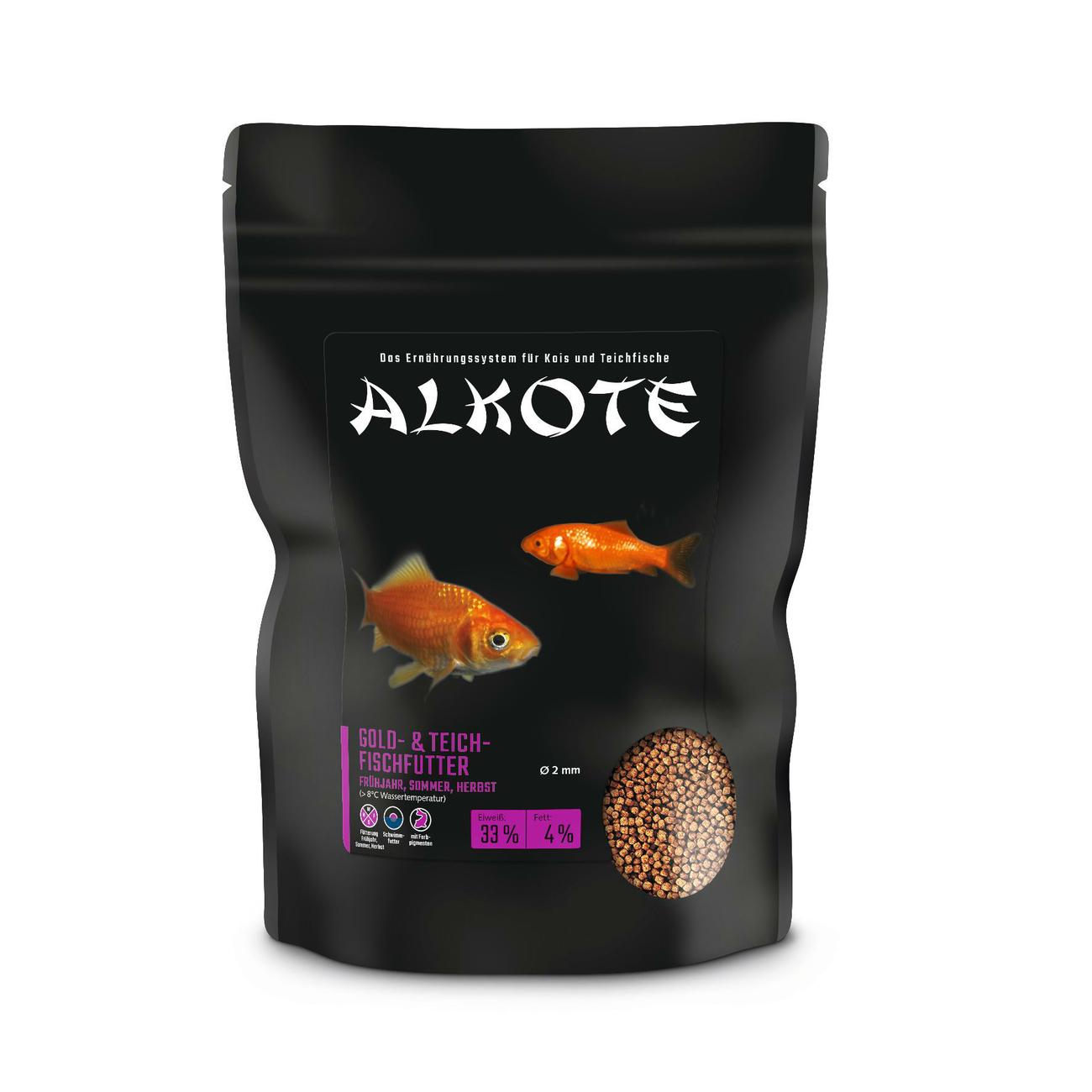 Allco ALKOTE Goldfischfutter Teichfischfutter, 450g Tüte