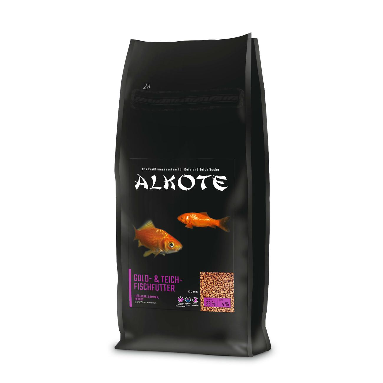 Allco ALKOTE Goldfischfutter Teichfischfutter, 13,5 kg 2 mm