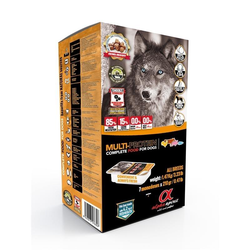 alpha spirit Complete Multi Protein Hundefutter halbfeucht, 1,47kg