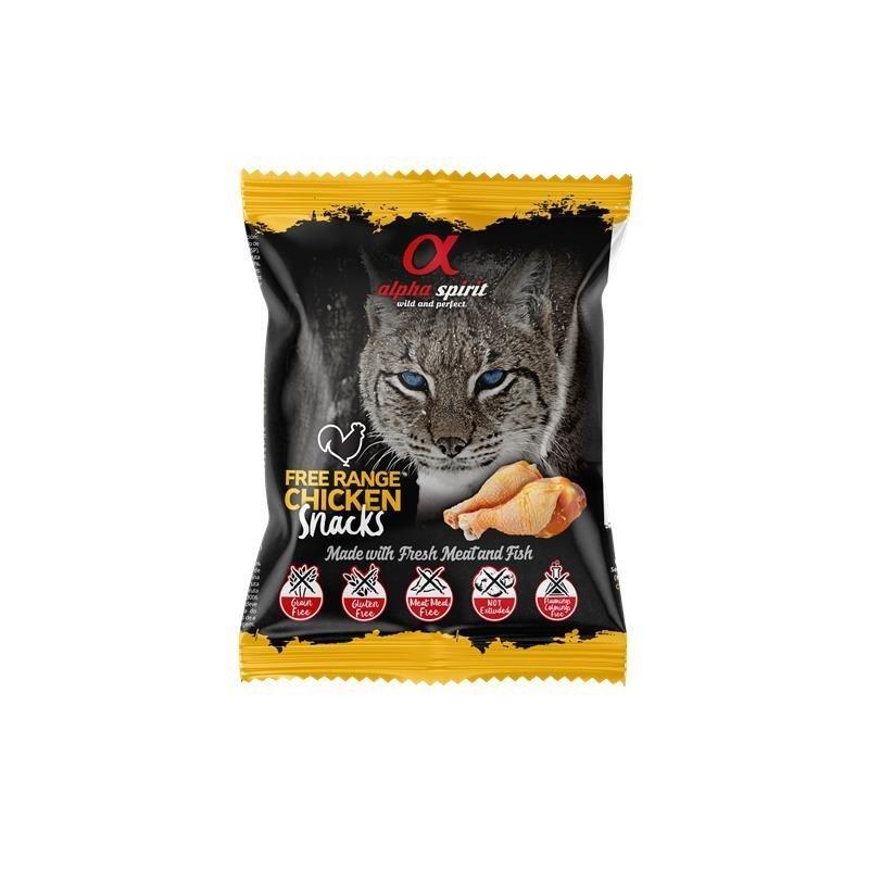 Alpha Spirit Snack Katzensnack gewürfelt, Huhn 50 g