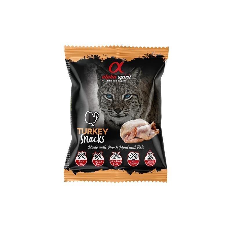 Alpha Spirit Snack Katzensnack gewürfelt, Pute 50 g