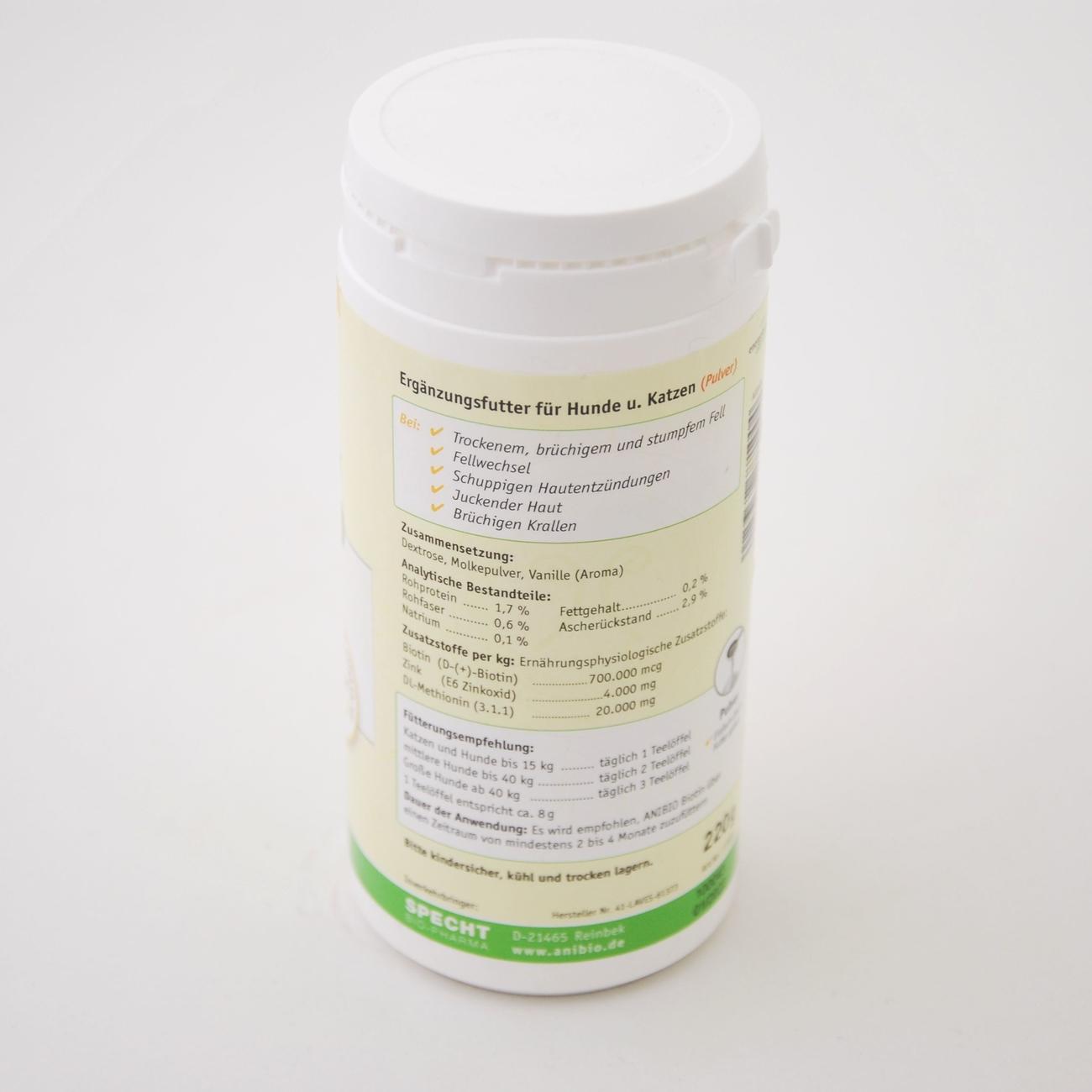 Anibio Biotin Pulver für Hunde und Katzen, Bild 2