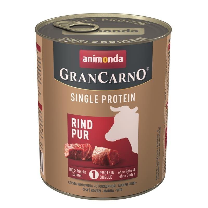 Animonda GranCarno Single Protein Hundefutter, Rind - 6 x 800 g