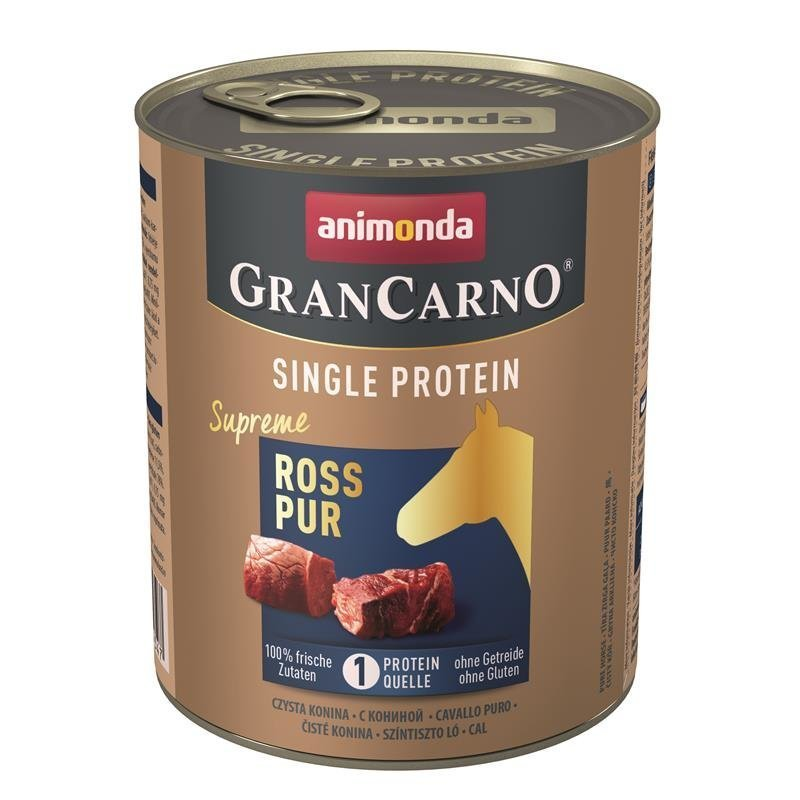 Animonda GranCarno Single Protein Hundefutter, Ross - 6 x 800 g