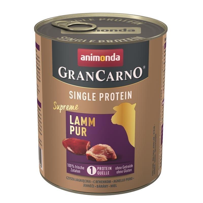 Animonda GranCarno Single Protein Hundefutter, Lamm - 6 x 800 g