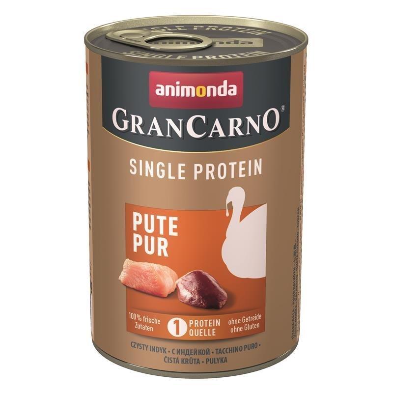 Animonda GranCarno Single Protein Hundefutter, Pute - 6 x 400 g