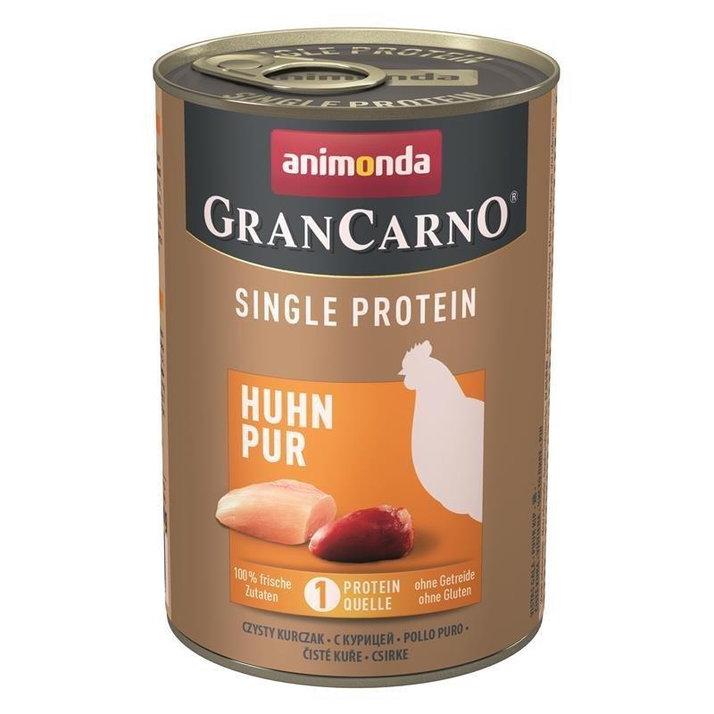 Animonda GranCarno Single Protein Hundefutter, Huhn - 6 x 400 g