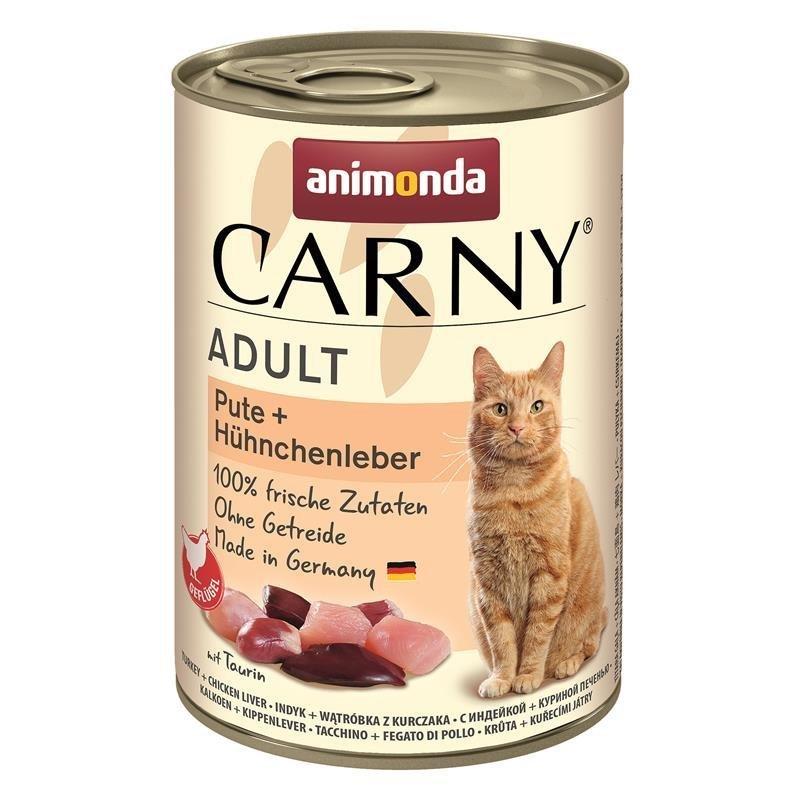 Animonda Katzen Nass Futter Carny Adult, Pute & Hühnchenleber, 6x400g