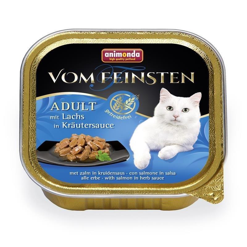 Animonda Katzenfutter vom Feinsten in Sauce, Lachs in Kräutersauce, 32x100g