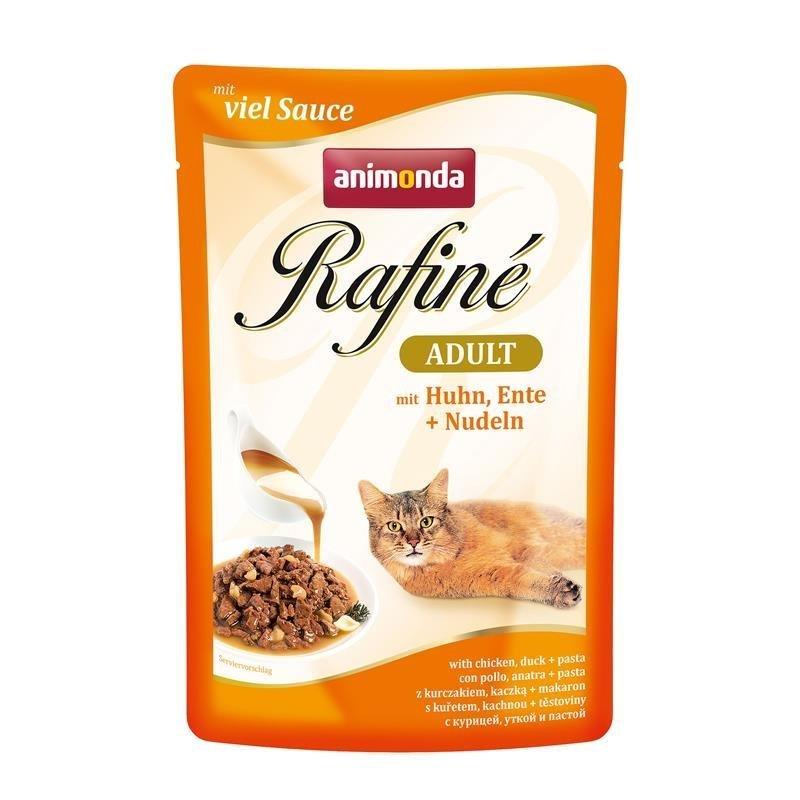 Animonda Rafine Katzenfutter Portionsbeutel, Huhn, Ente & Nudeln 12x100g