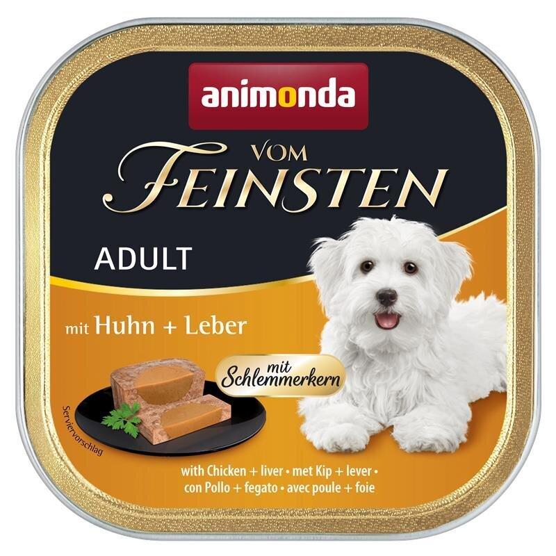 Animonda Vom Feinsten Hundefutter mit Schlemmerkern, mit Rind, Joghurt & Haferflocken 22x150g