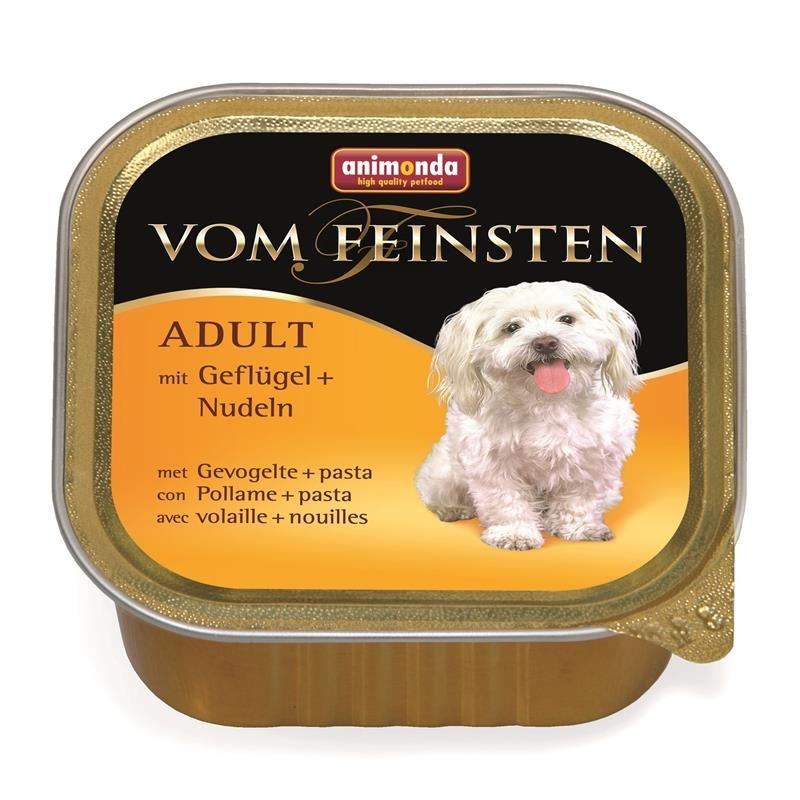 Animonda Vom Feinsten Menü Hundefutter, 22 x 150g Geflügel & Nudel