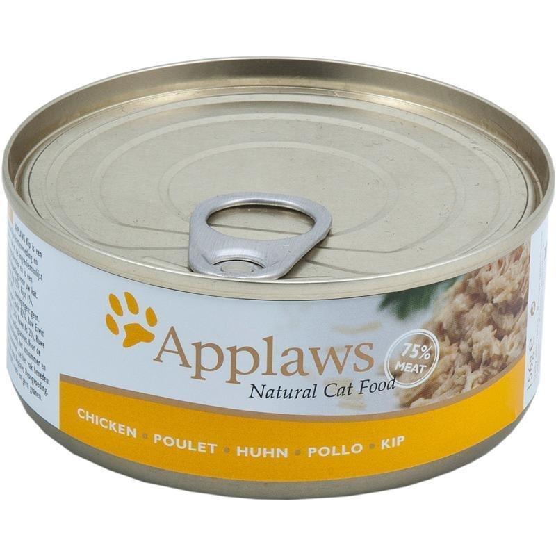 Applaws Cat Katzenfutter Nassfutter Dose Adult, Hühnchenbrust 24 x 156 g