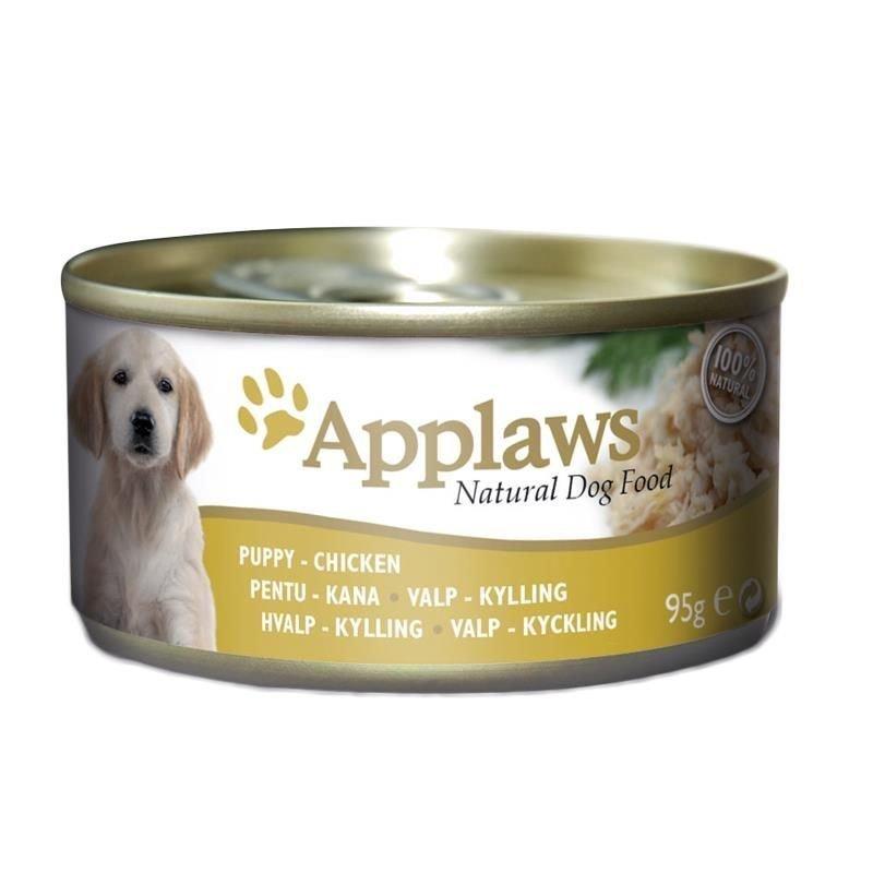 Applaws Nassfutter für Welpen Dose, Hühnchen 12 x 95 g