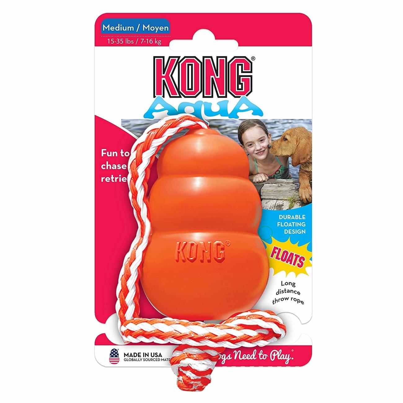 Aqua KONG schwimmend Hundespielzeug, M, Medium, 8 cm