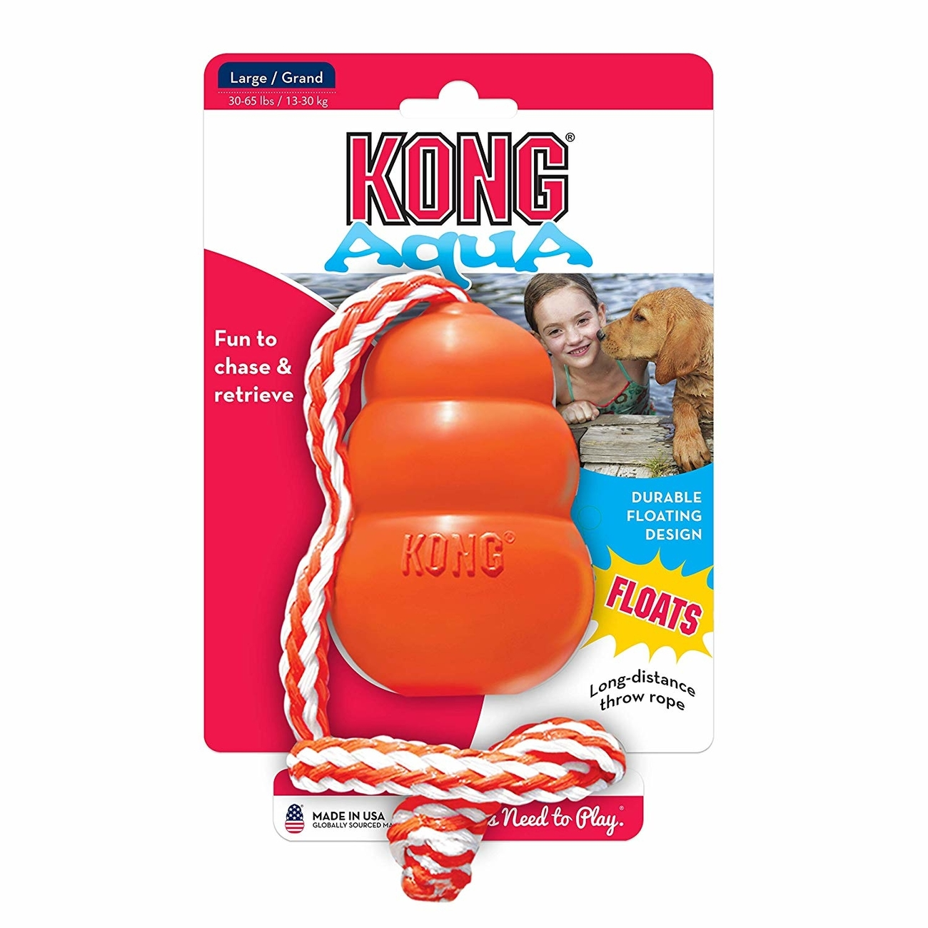 Aqua KONG schwimmend Hundespielzeug, L, Large, 10 cm