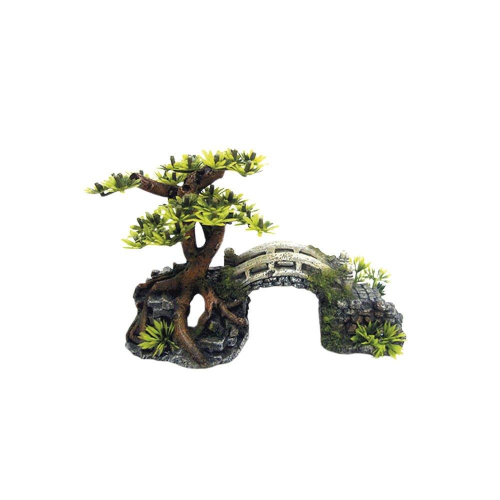 Nobby Aqua Ornaments Brücke mit Bonsai