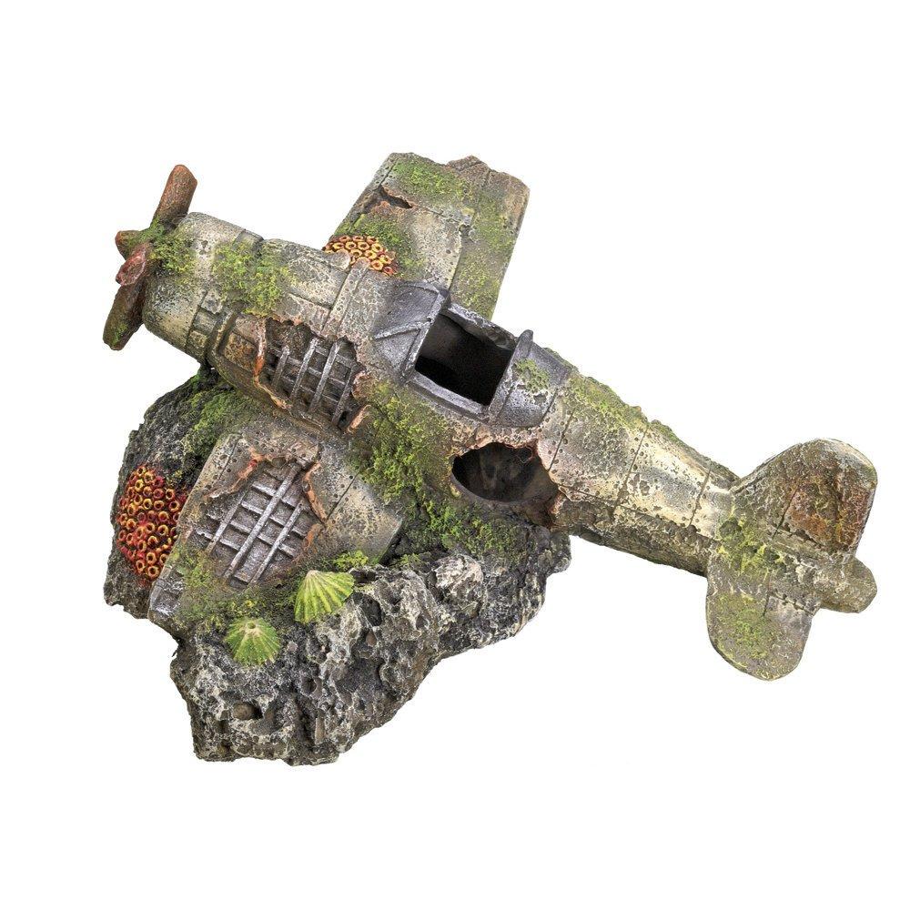 Nobby Aqua Ornaments Flugzeug, 19,0 x 18,7 x 8,5 cm