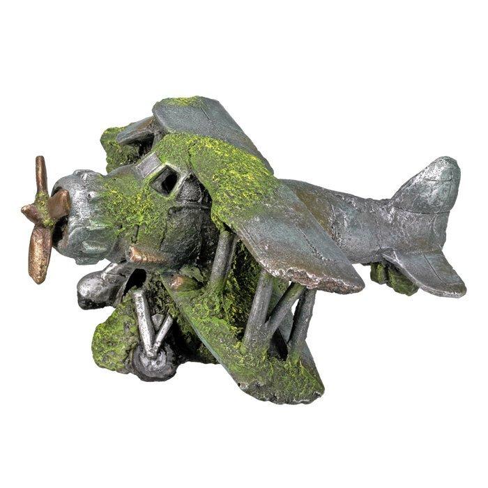 Nobby Aqua Ornaments Flugzeug mit Moos, 19 x 19 x 8 cm