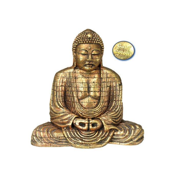Nobby Aqua Ornaments Goldener Buddha, 15,5 x 9,6 x 15,4 cm