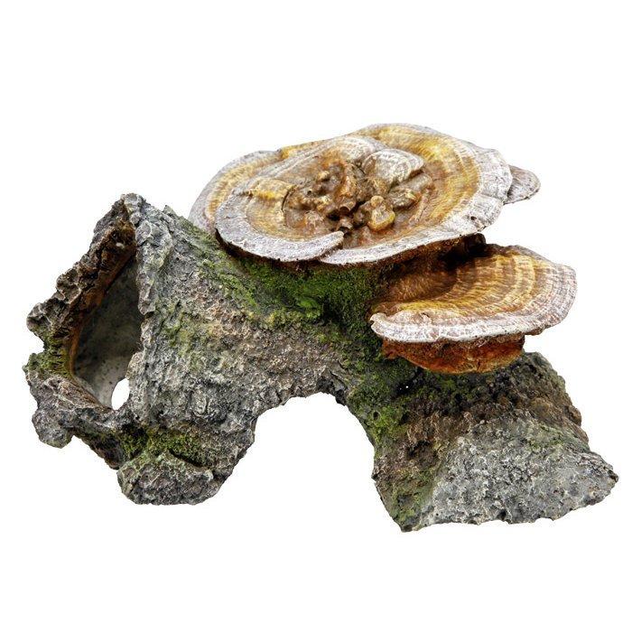 Nobby Aqua Ornaments Holzhöhle mit Pilzen, 18 x 19 x 10 cm