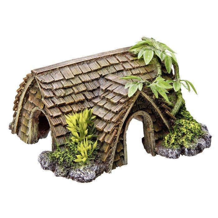 Nobby Aqua Ornaments Hütte mit Pflanzen