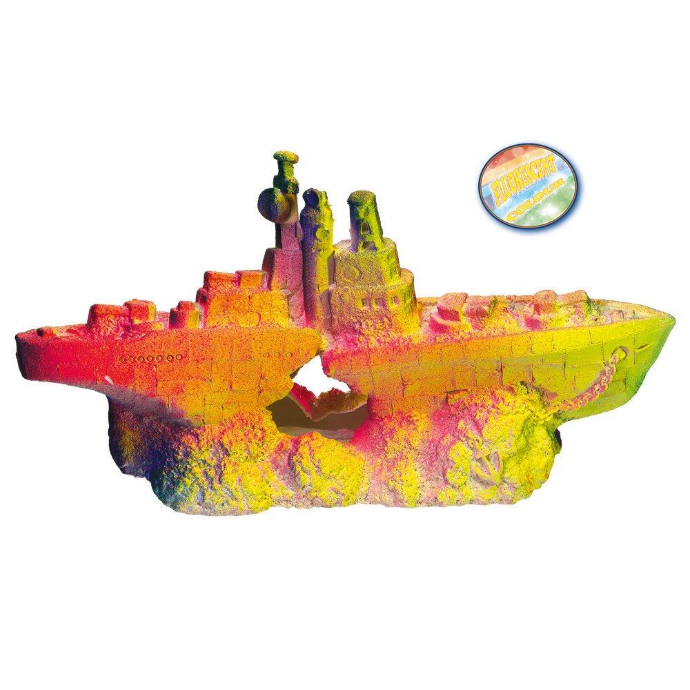 Nobby Aqua Ornaments Kriegsschiff, 30,5 x 10,5 x 15 cm