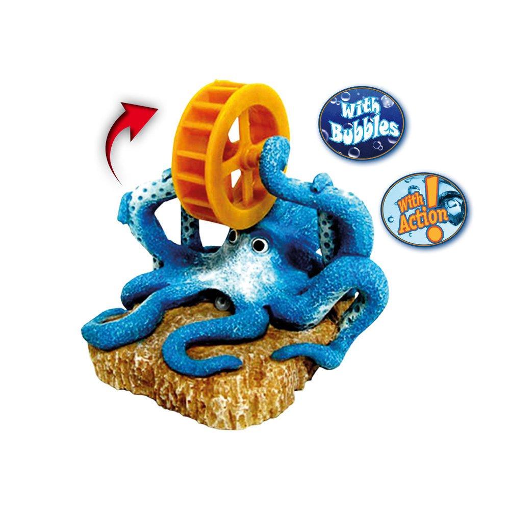 Nobby Aqua Ornaments Oktopus mit Rad, 13,8 x 13,5 x 12,7 cm
