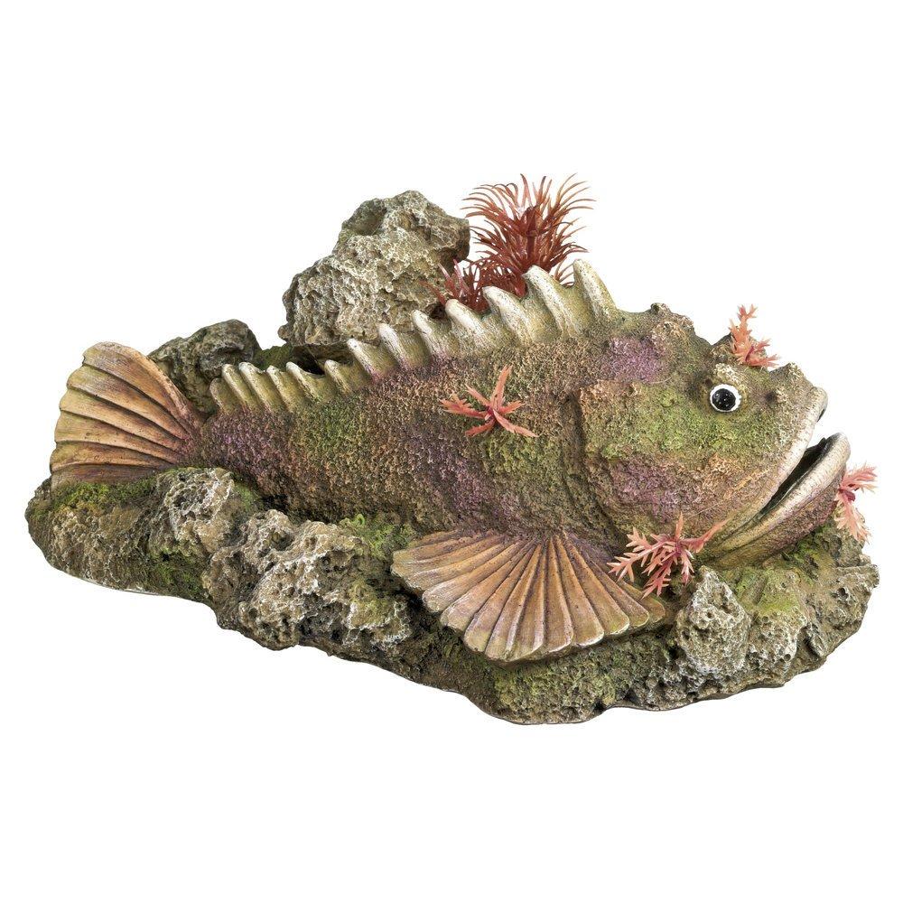 Nobby Aqua Ornaments Steinfisch mit Pflanzen, 21,0 x 14,5 x 9,0 cm