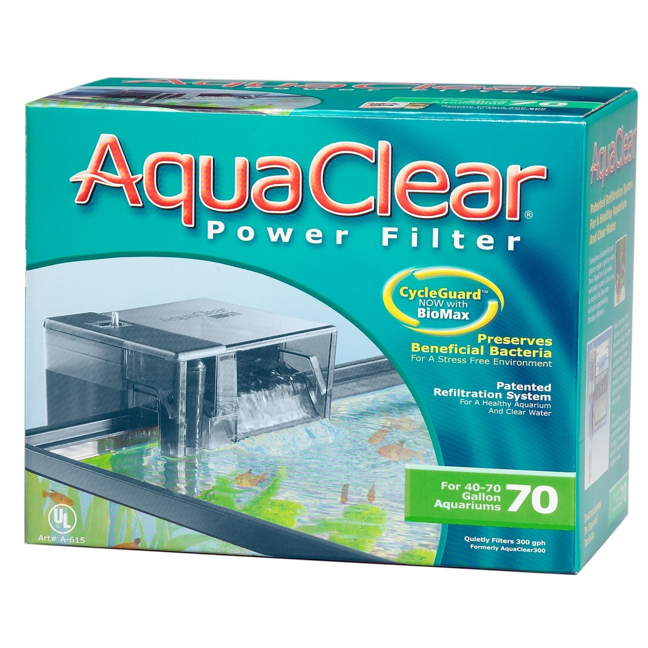 Hagen AquaClear Power Filter, 70er - 27,5 x 22 x 16 cm