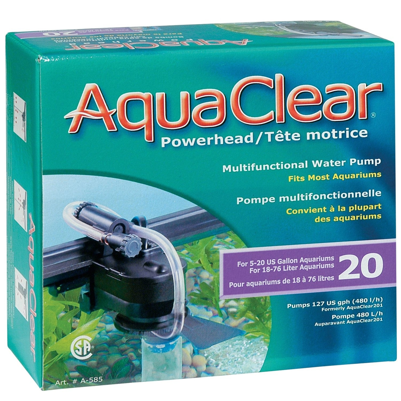 Hagen AquaClear PowerHead, 20 - (16 x 7 x 14 cm)