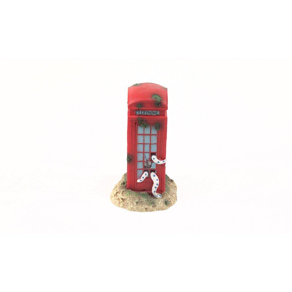 Aquatlantis Aqua Decor Telefonzelle, 9,5 x 9,5 x 17,5 cm
