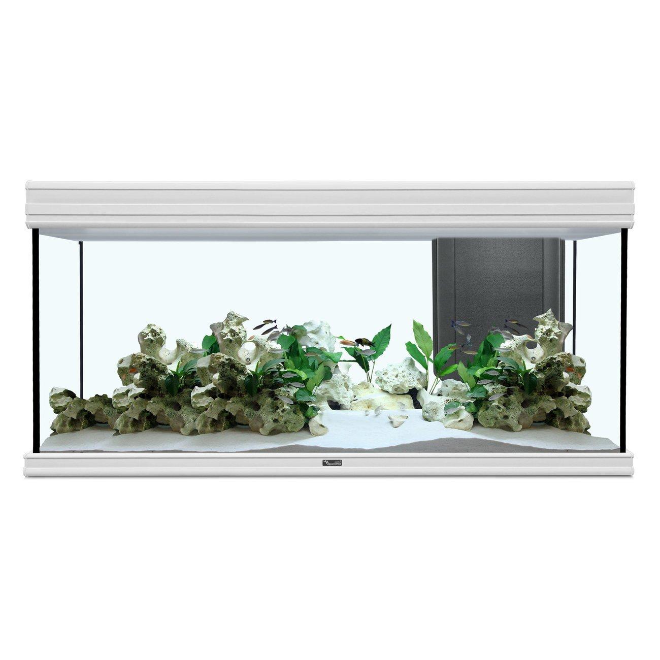 Aquatlantis Fusion 120x40 cm Aquarium, 120x40x60cm, 288L/224L, weiß