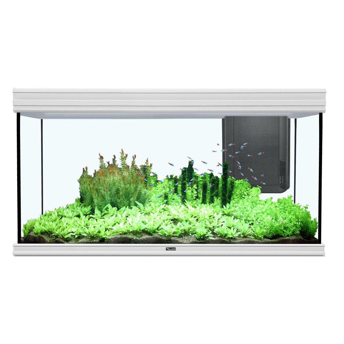 Aquatlantis Fusion 120x50cm Aquarium, 120x50x70cm, 420L/330L, weiß